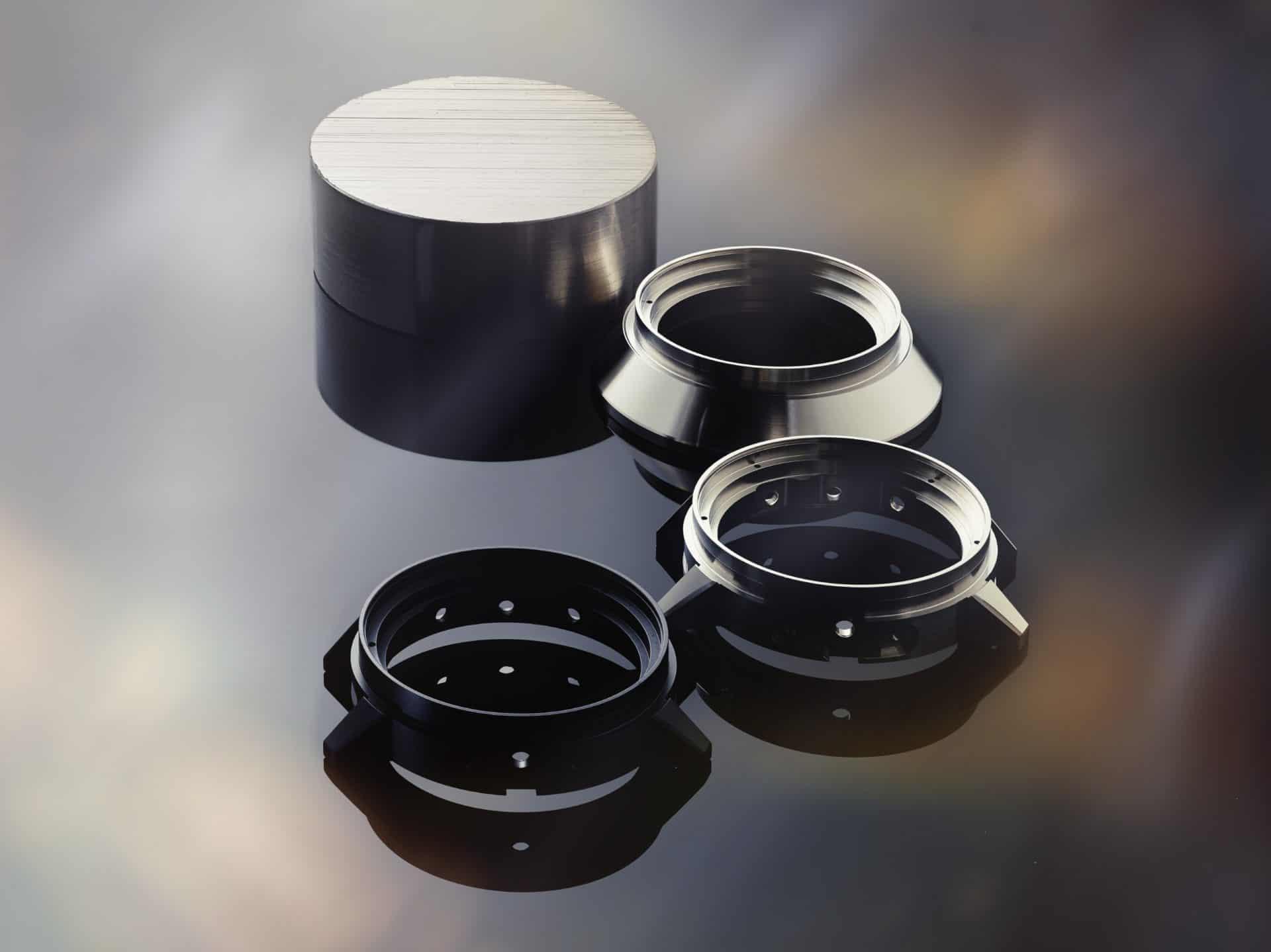 Stadien der innovativen Fertigung von Ceratanium-Schalen