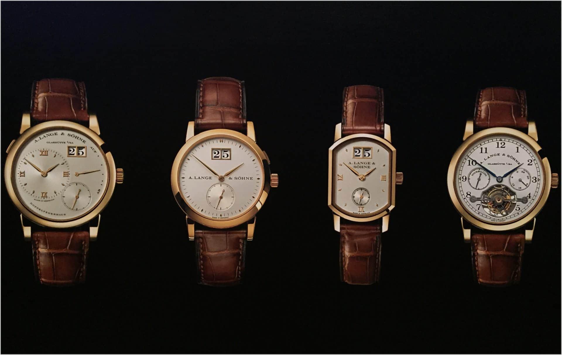 Keine Epigonen sondern neue Entwürfe: Die ersten vier Neuzeit-Armbanduhren von A. Lange & Söhne aus dem Jahr 1994