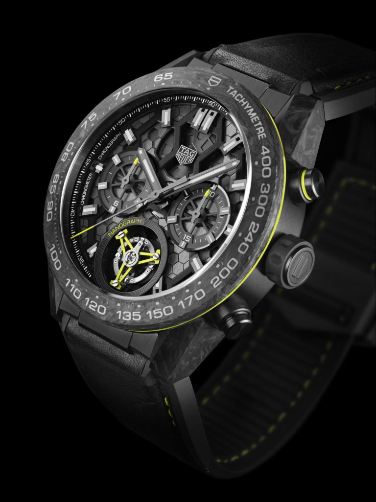 Close up der neuen TAG Heuer Tourbillon Nanograph