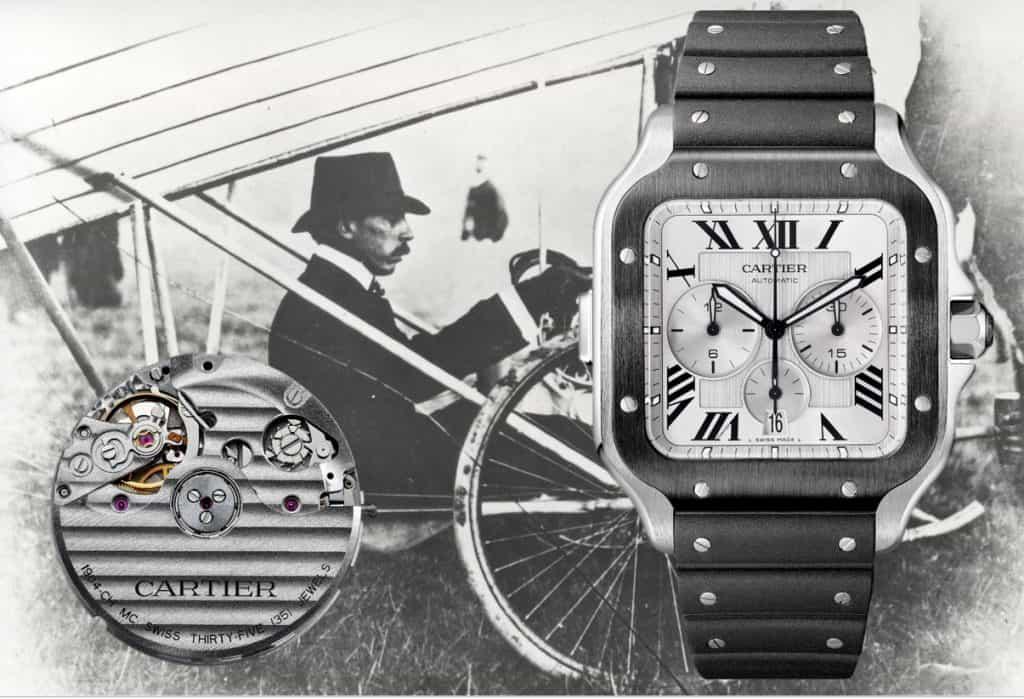 Cartier Santos Chronograph 2019, Kaliber 1904 CH MC