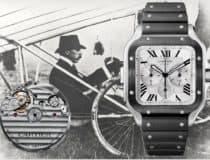 Cartier beschichtet diesen Santos Chronographen schwarz
