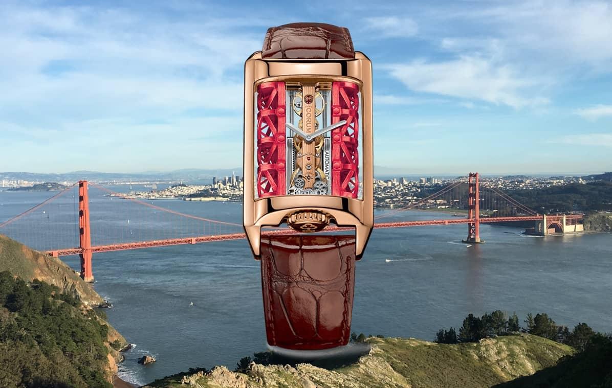 Die Corum Golden Bridge Stream erinnert in der Tat an die gleichnamige Brücke in San Francisco