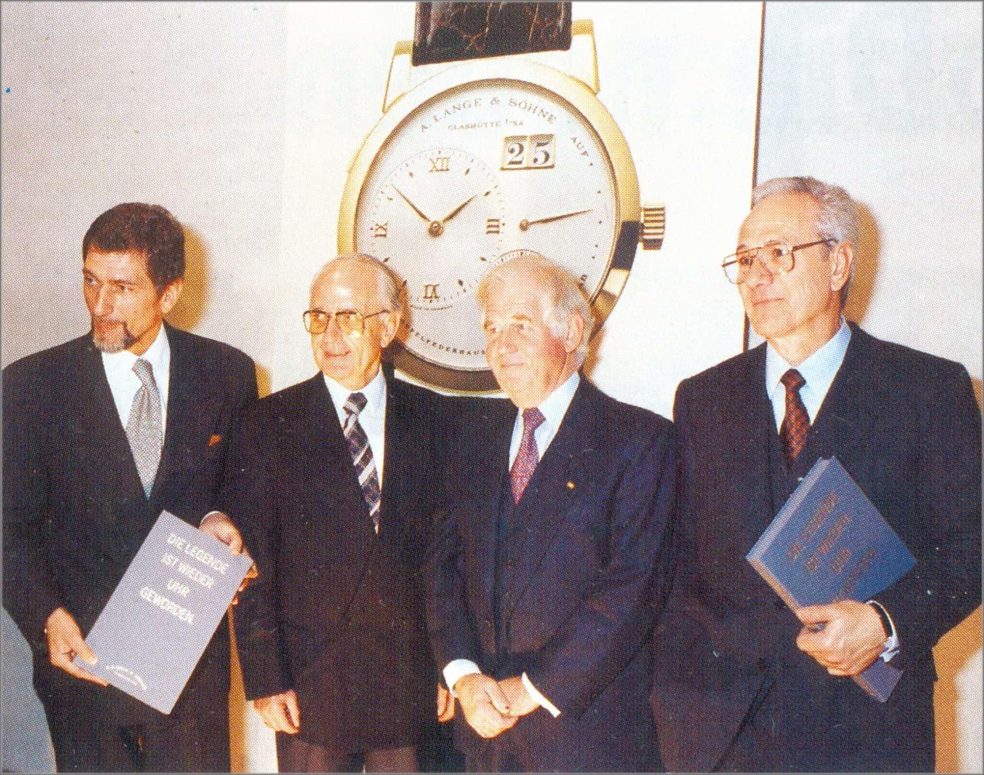 Günter Blümlein, Walter Lange, Kurt Biedenkopf und Joachim Funk