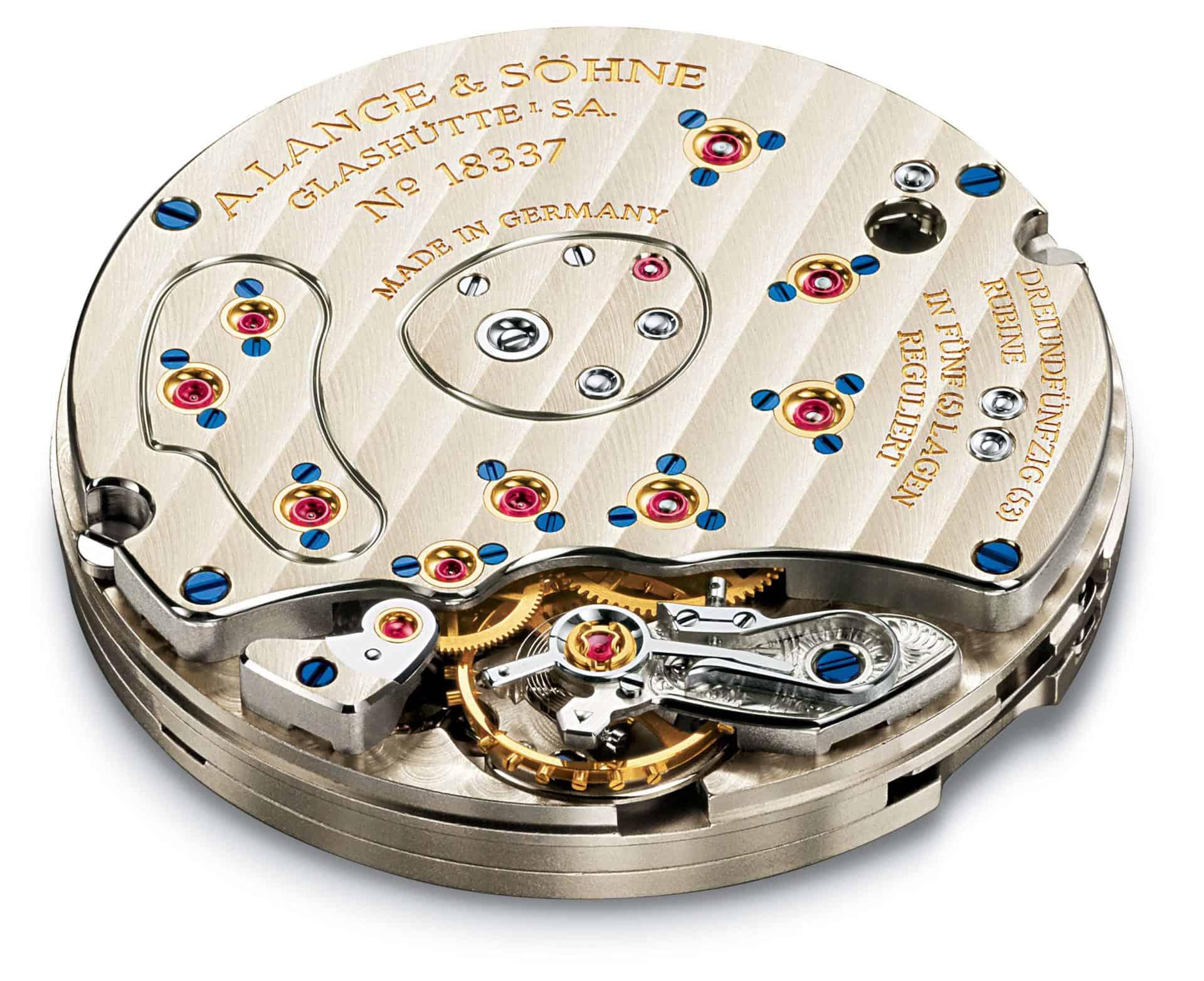 Feine Uhrmacherarbeit - das A. Lange & Söhne Handaufzugskaliber L901.0 in der Lange 1 Armbanduhr