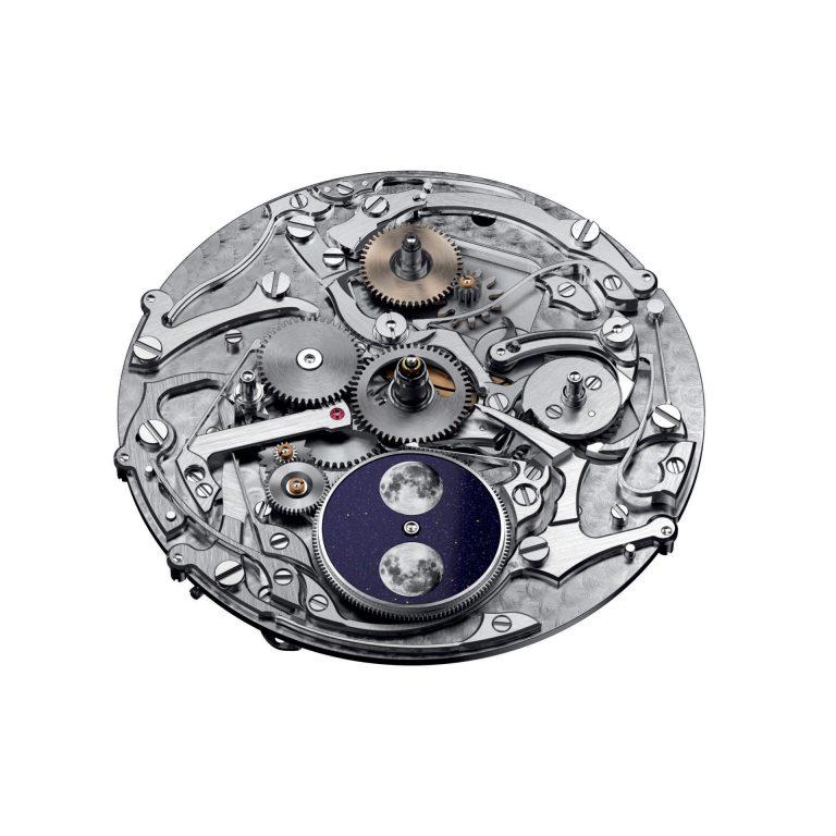Das Kaliber 5134 mit der schönen Mondscheibe treibt den Ewigen Kalender der Audemars Piguet Code 11.59 an