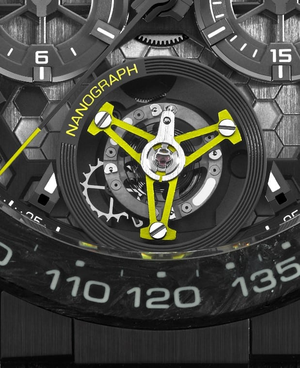 Das innovative Nanograph Tourbillon der TAG Heuer Carrera Calibre Heuer 02T
