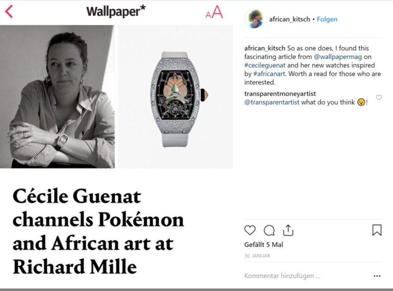 Cécile Guenat Designerin bringt neue und kreative Impulse für Richard Mille