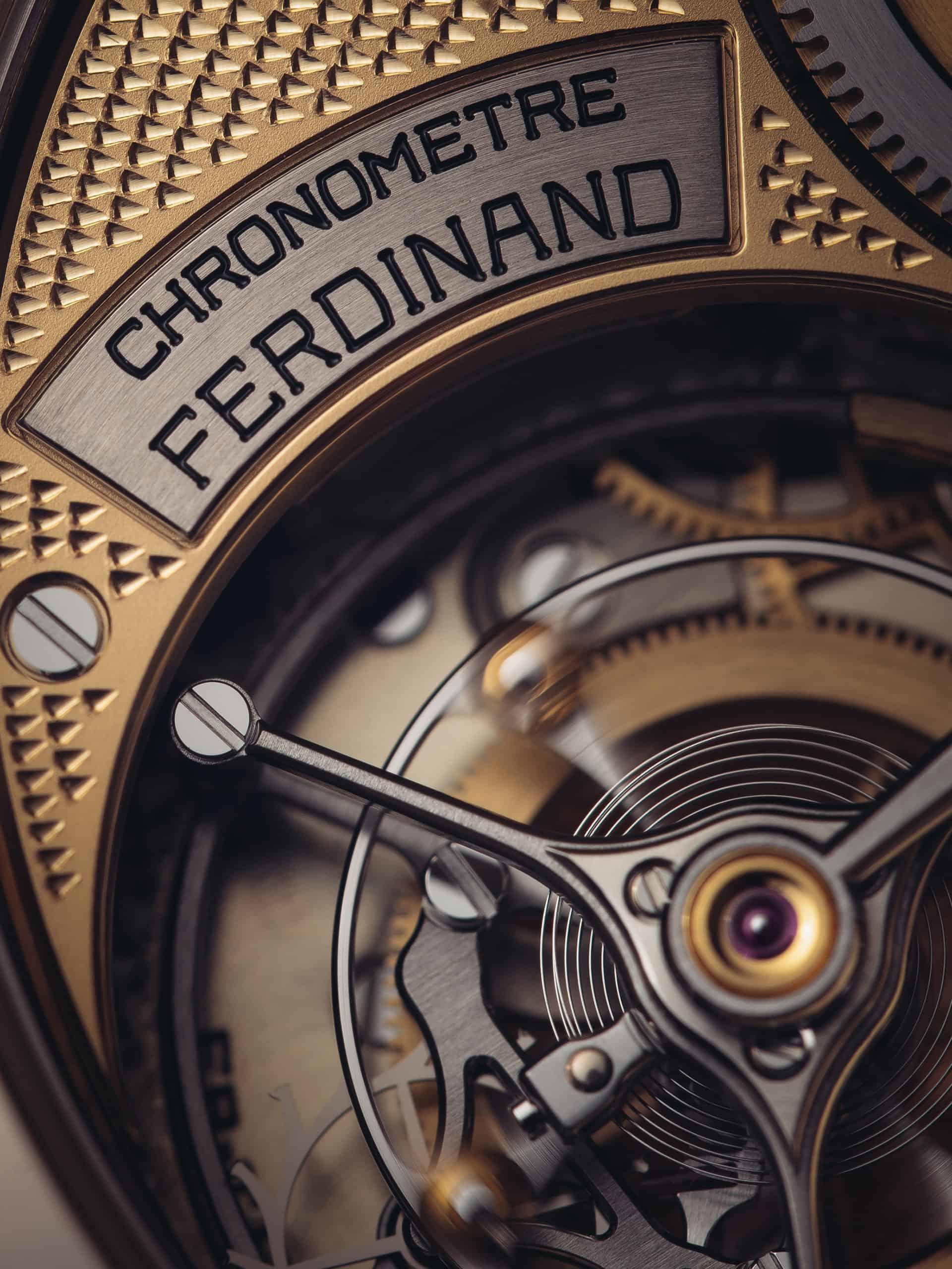 Das innenliegende Tourbillon der Ferdinand Berthoud