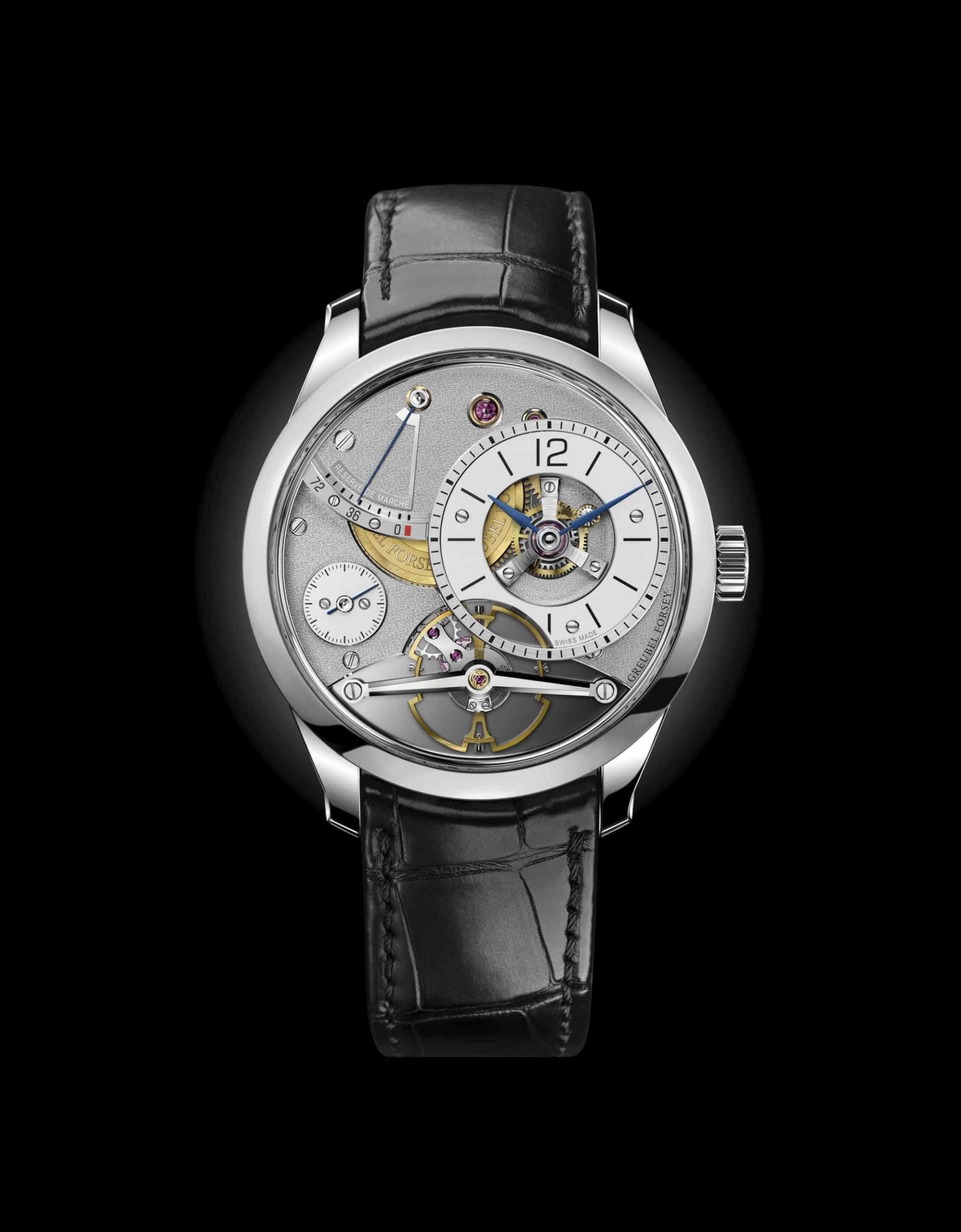 Greubel Forsey Balancier Contemporain ist ein schlichte Uhr, aber von bestechender Technik