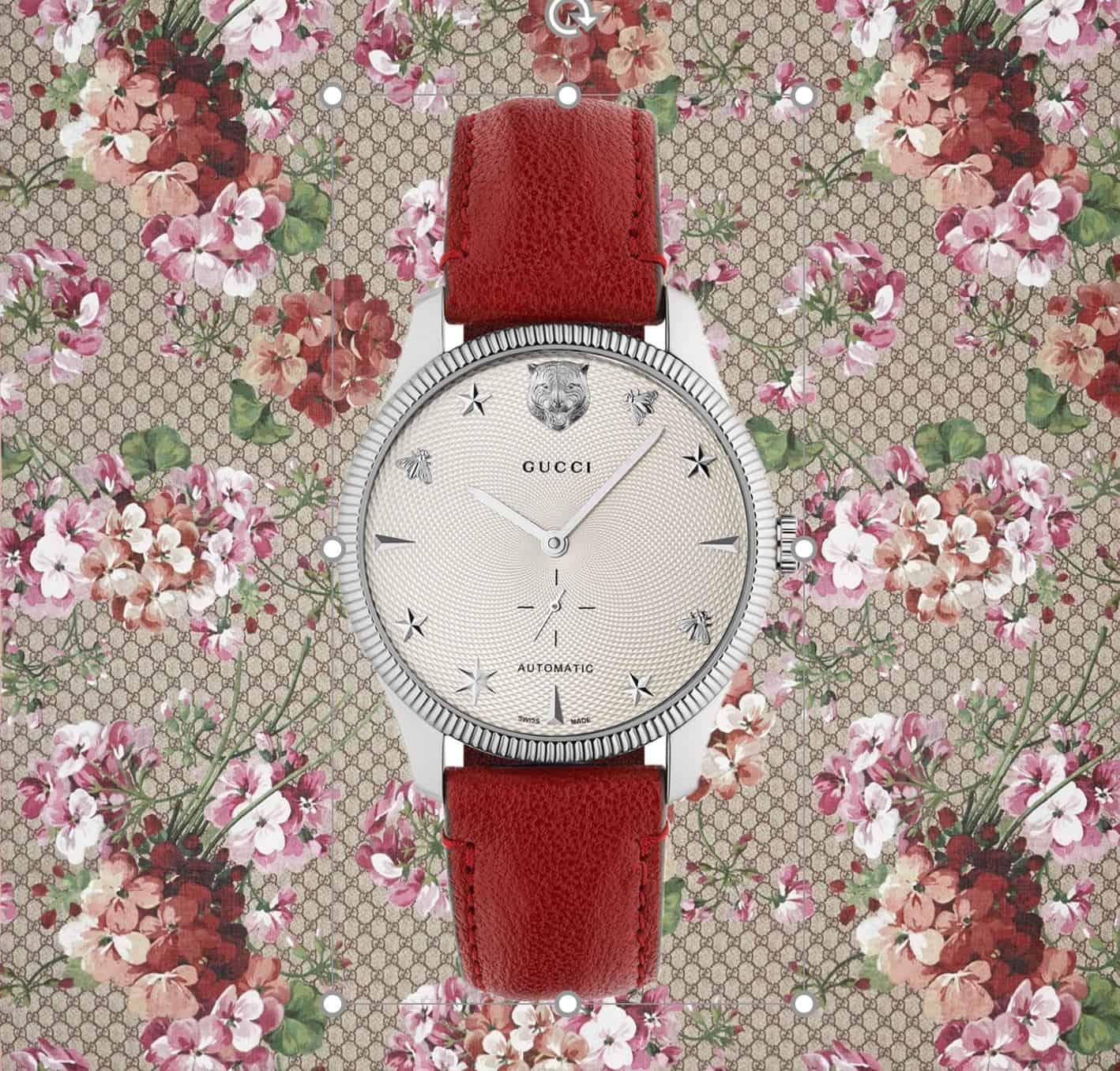 Gucci G-Timeless LinieGucci G-Timeless: Mode und mechanische Uhr sind kein Widerspruch