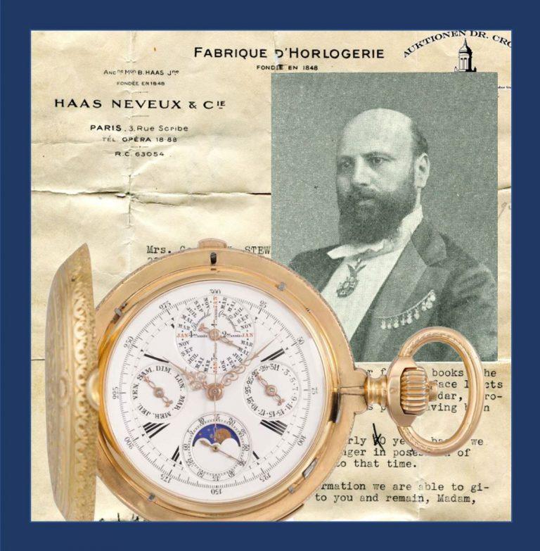 Haas Neveux Luxus-Uhren sind begehrt. Diese komplizierte Taschenuhr erzielte bei einer Versteigerung einen Preis von 30.000 €.