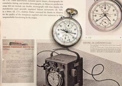 Historische Zeitmessung mithilfe des Minerva Rattrapante Schleppzeiger-Chronographen