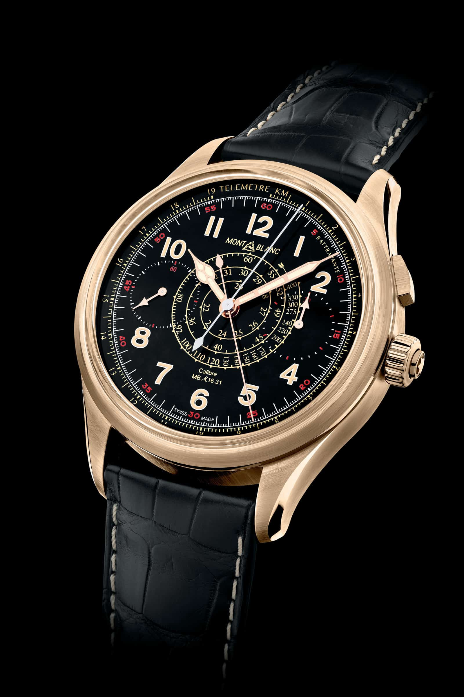 Der Bronze-Chronograph Montblanc 1858 Split Second