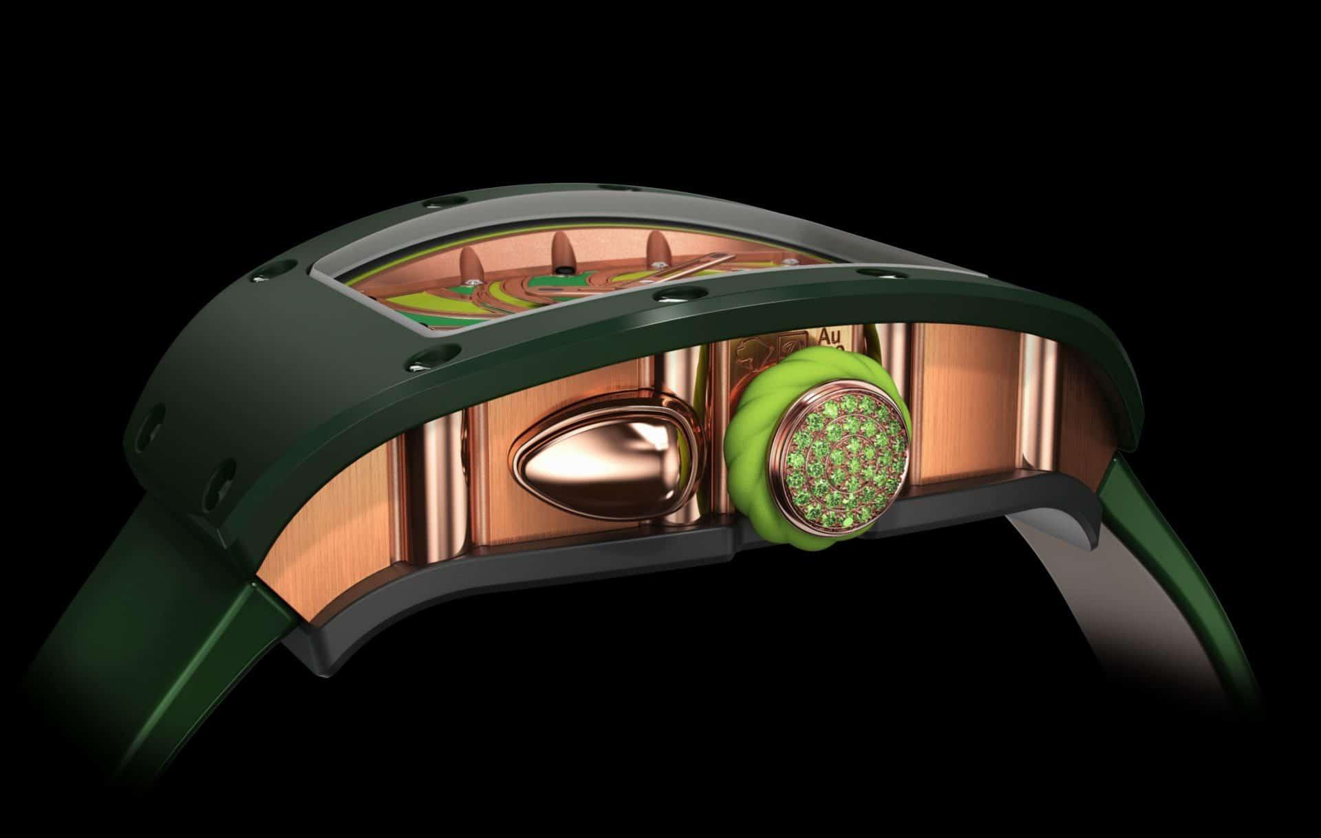 Die verzierte Krone der Richard Mille RM 37-01 Sucette