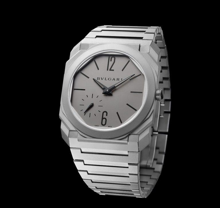 Bulgari Octo Finissimo Automatik, das ist superflacher Uhrenbau, bei dezenter Farbe und kantiger Optik
