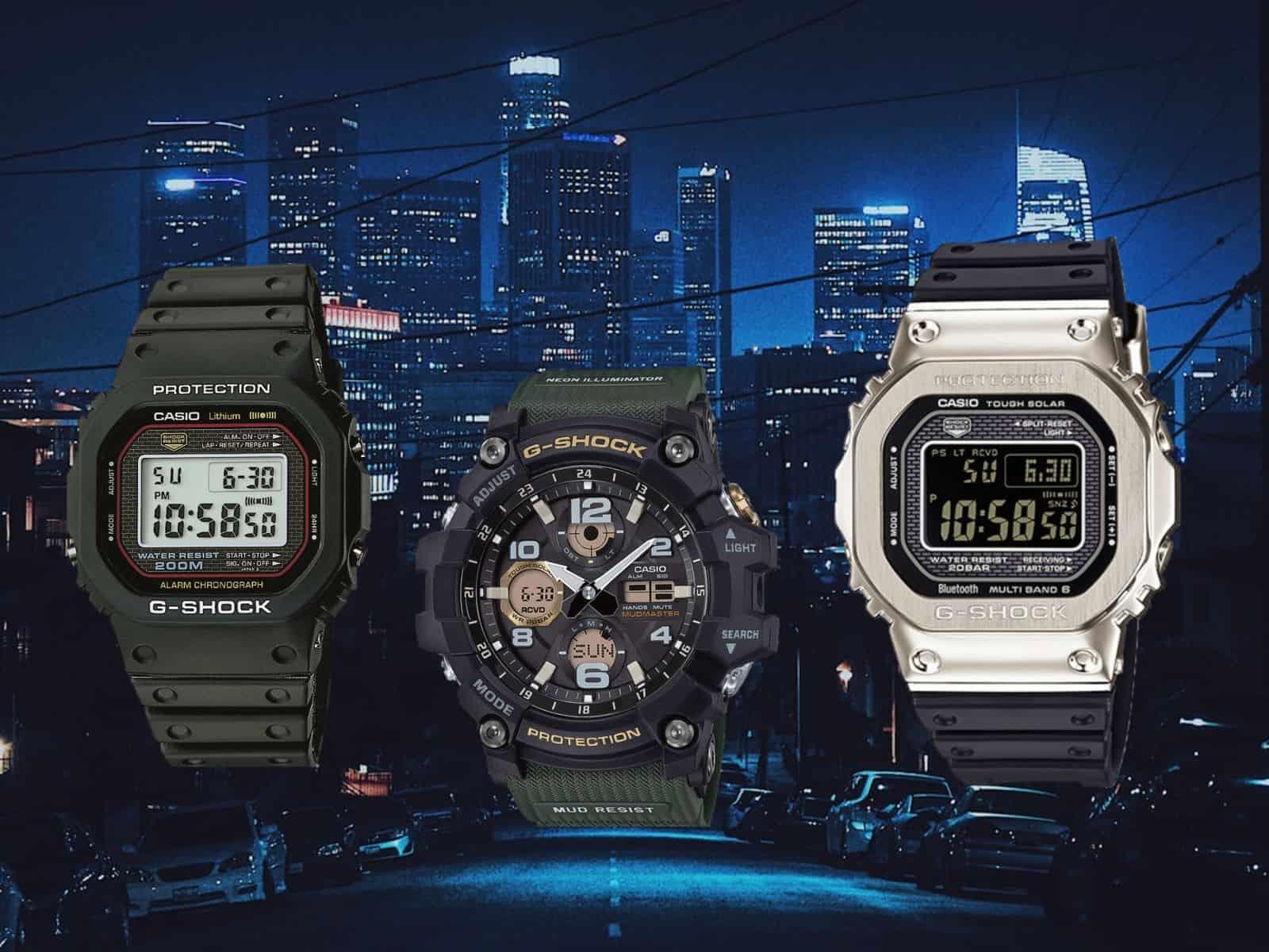 Die G-Shock Modelle für den Urban Djungle