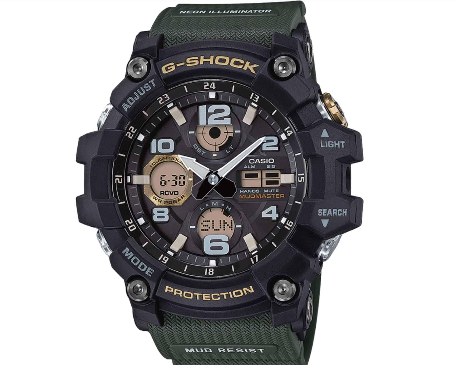 Eine Uhr für die Wildnis - die Mudmuster Casio G-Shock Multifunktionsuhr