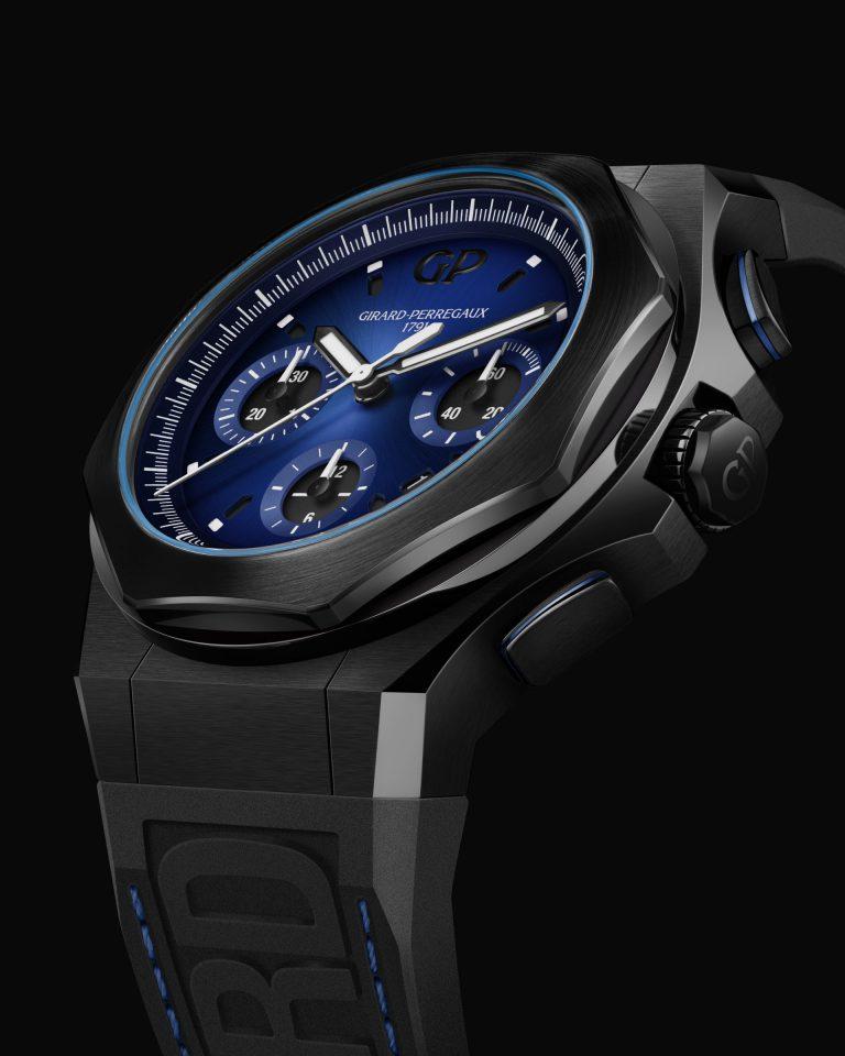 Der Laureato Absolute Chronograph von Girard-Perregaux in blau-schwarz