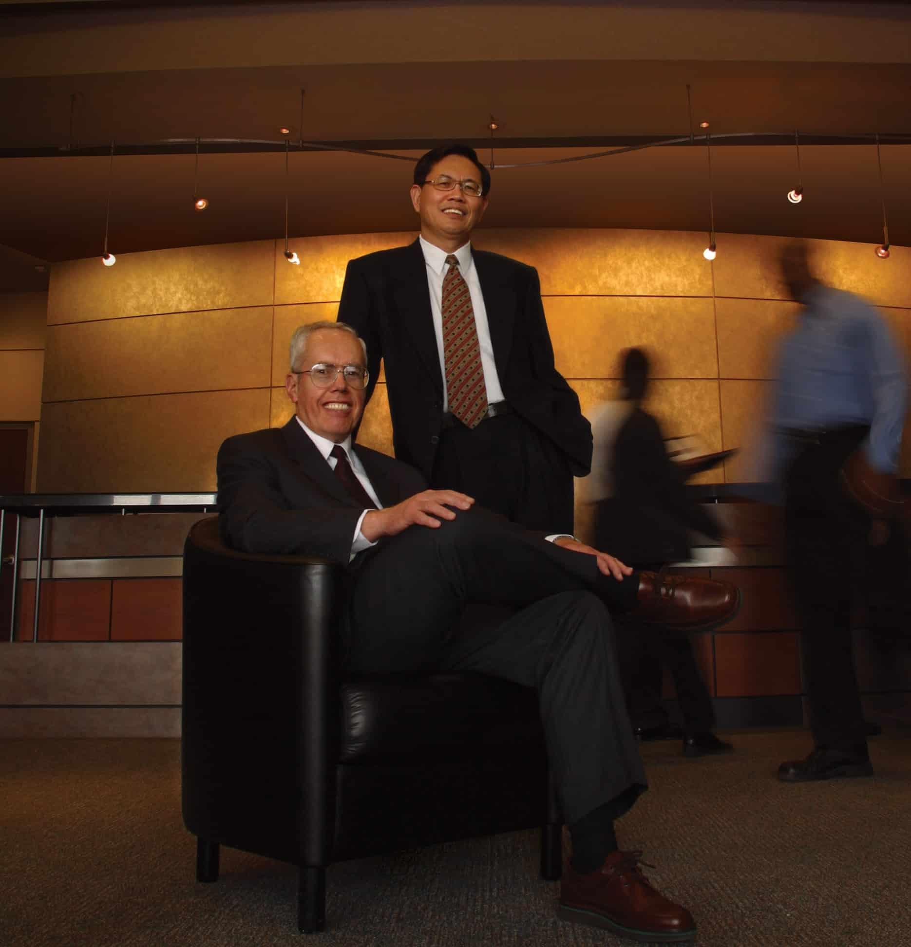 Garmin Gründer Gary Burrell und Min Kao