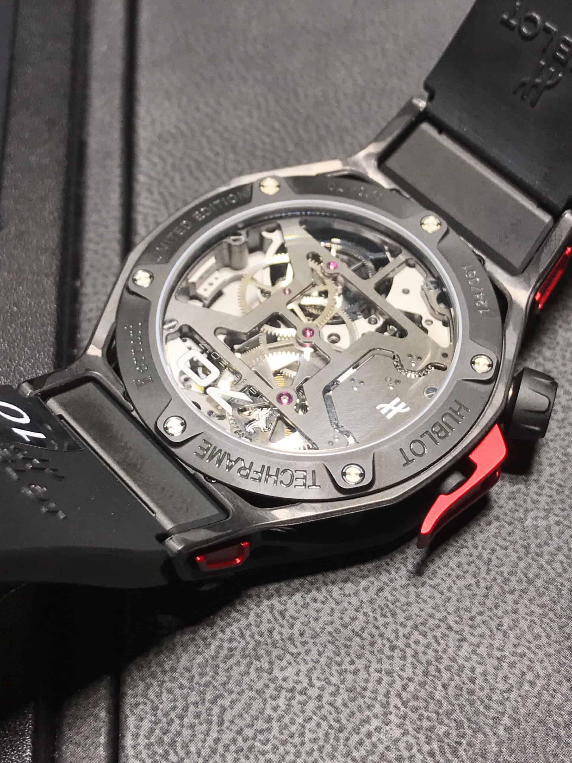 Hublot . Techframe Ferrari 70 years Tourbillon Chronograph - 2017-5