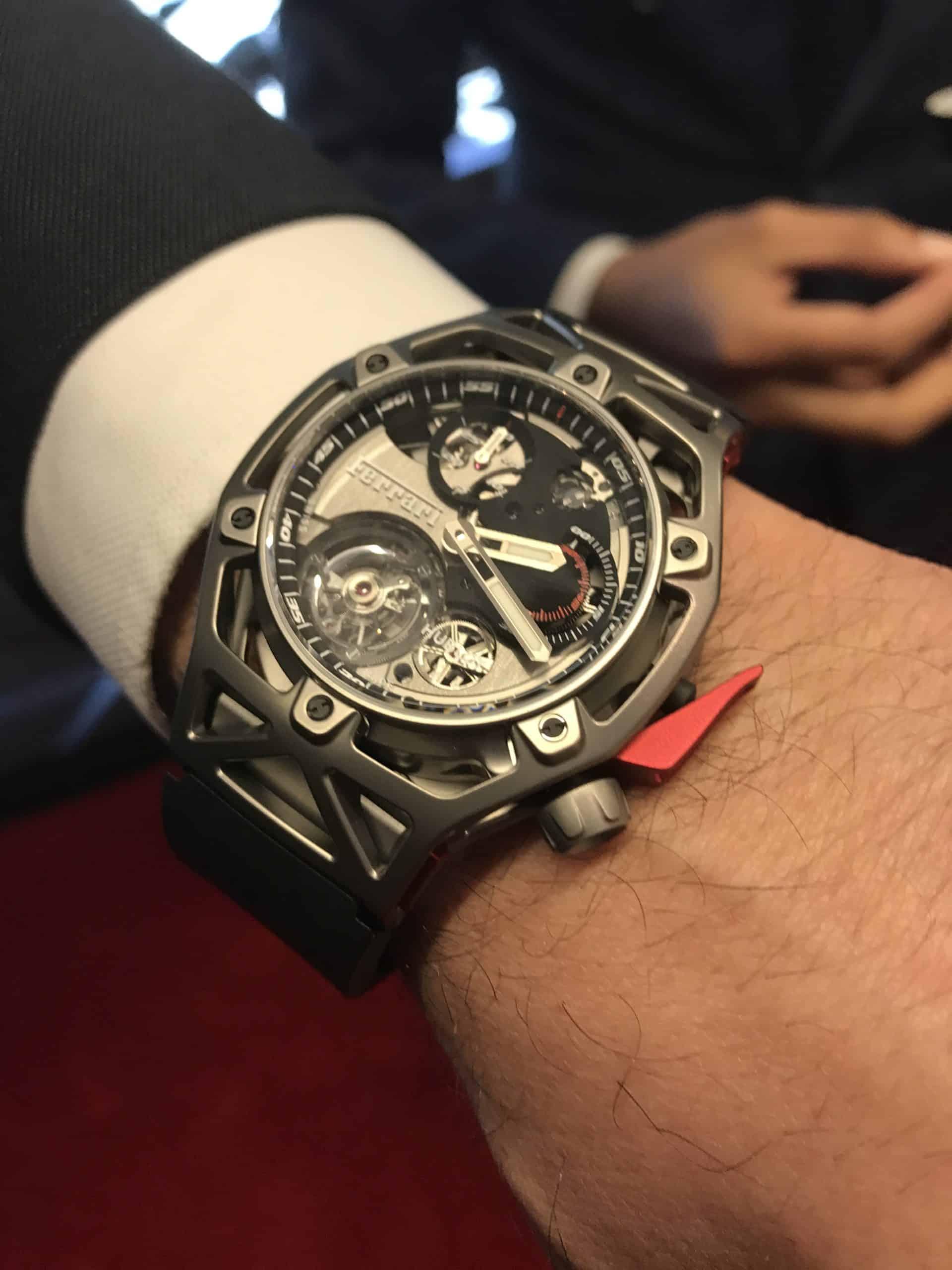 Hublot . Techframe Ferrari 70 years Tourbillon Chronograph - 2017
