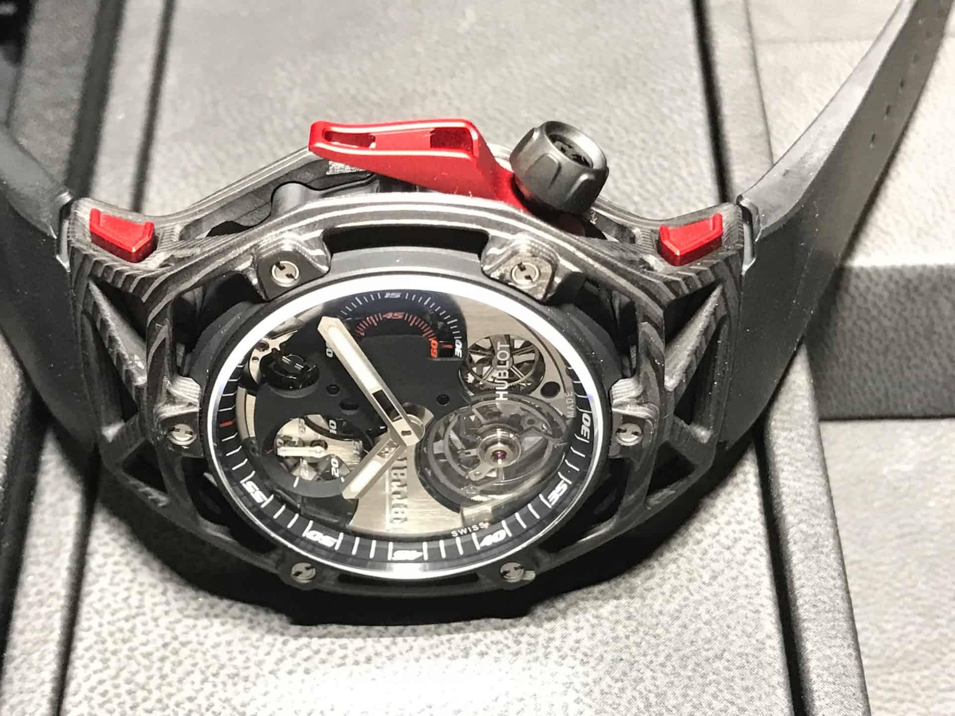 Hublot . Techframe Ferrari 70 years Tourbillon Chronograph - 2017_3