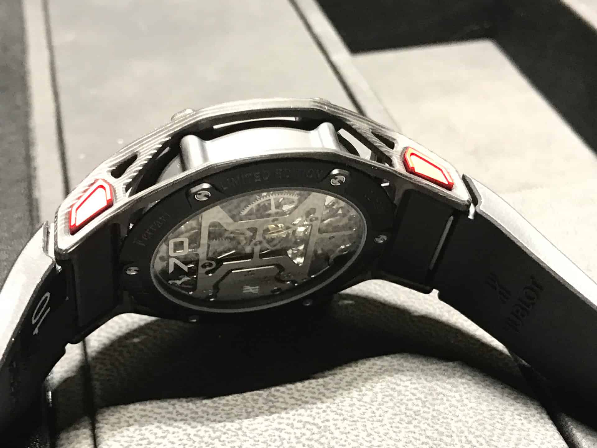 Hublot . Techframe Ferrari 70 years Tourbillon Chronograph - 2017_4
