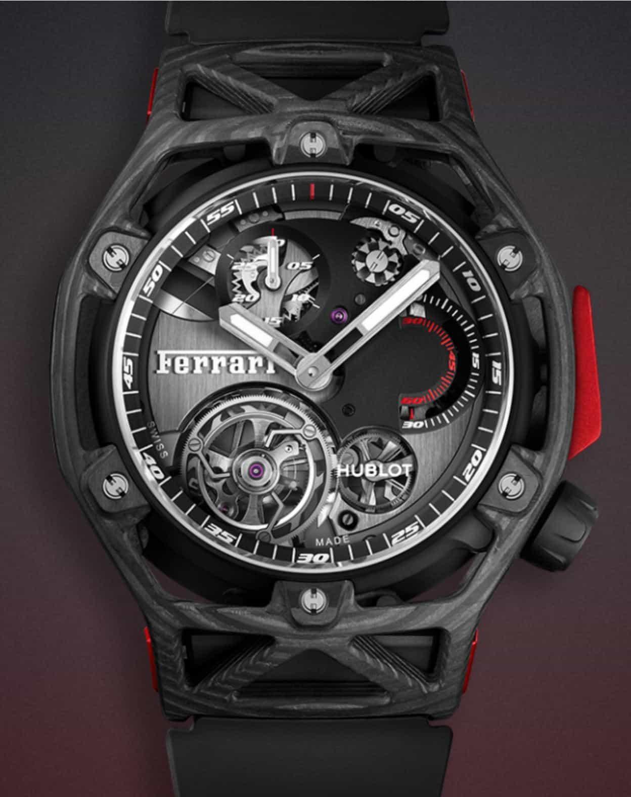 Hublot Techframe Ferrari 70 years Tourbillon Chronograph Limited 70 Ex
