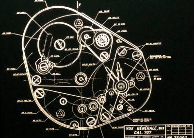Alte Pläne der El Primero Uhrenproduktion
