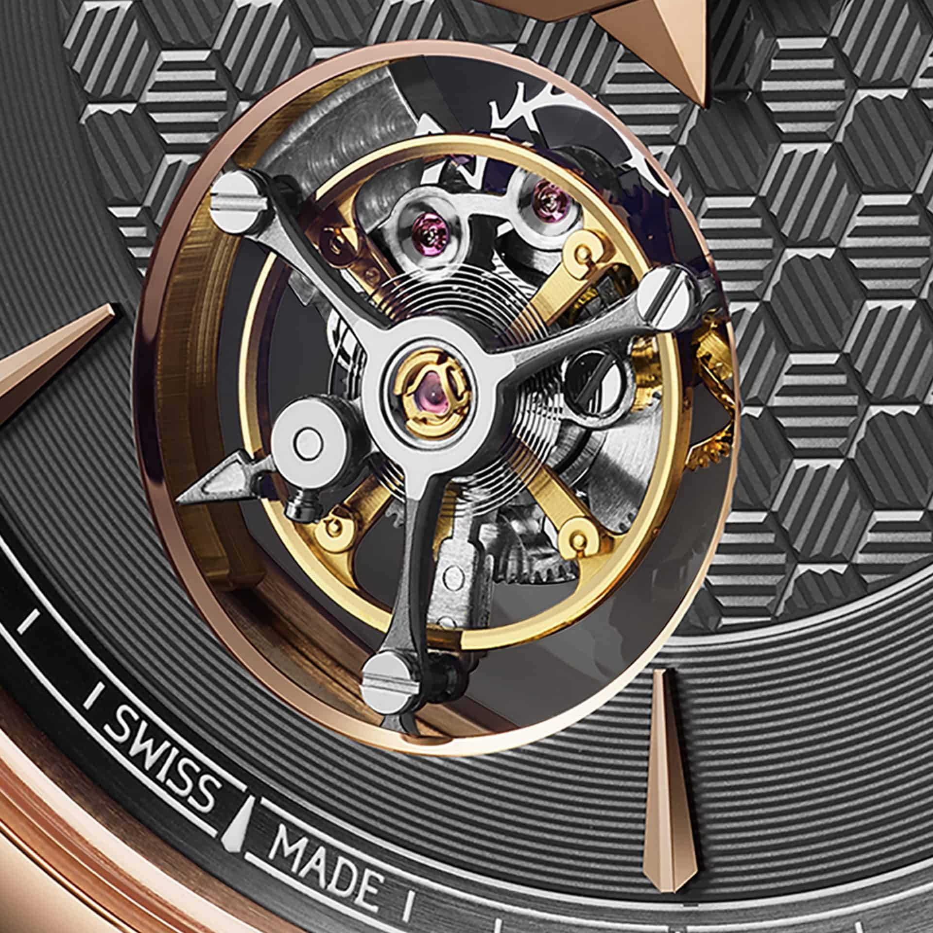 Nahansicht des fliegenden Chopard Flying T Twin Tourbillons