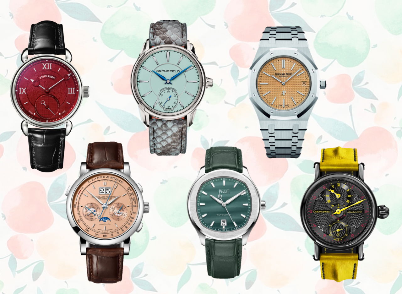 Edle Uhren und farbiges Zifferblatt: Bekennen auch Sie Farbe?