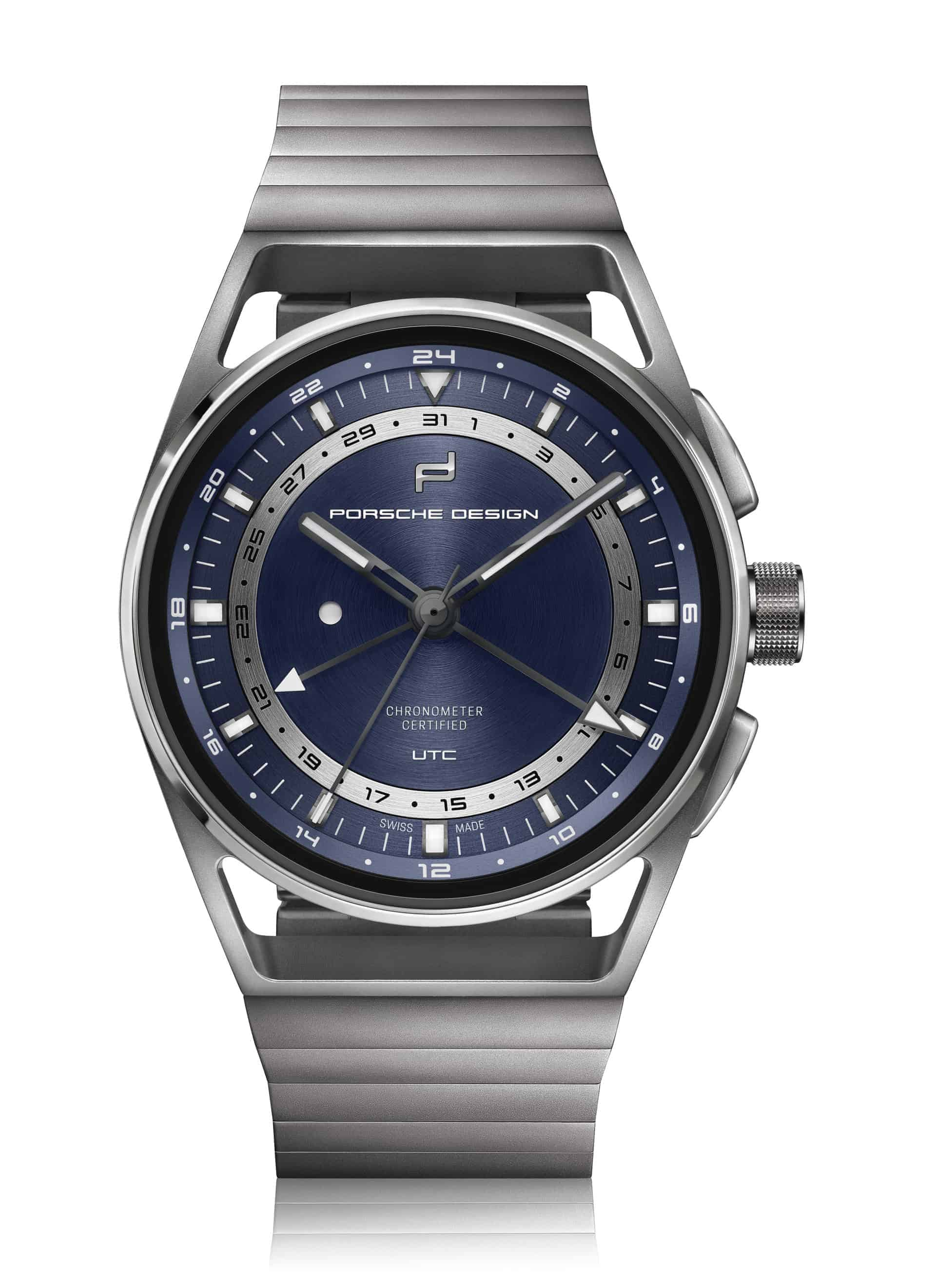 PD_1919 Globetimer UTC All Titanium Blue_front2D