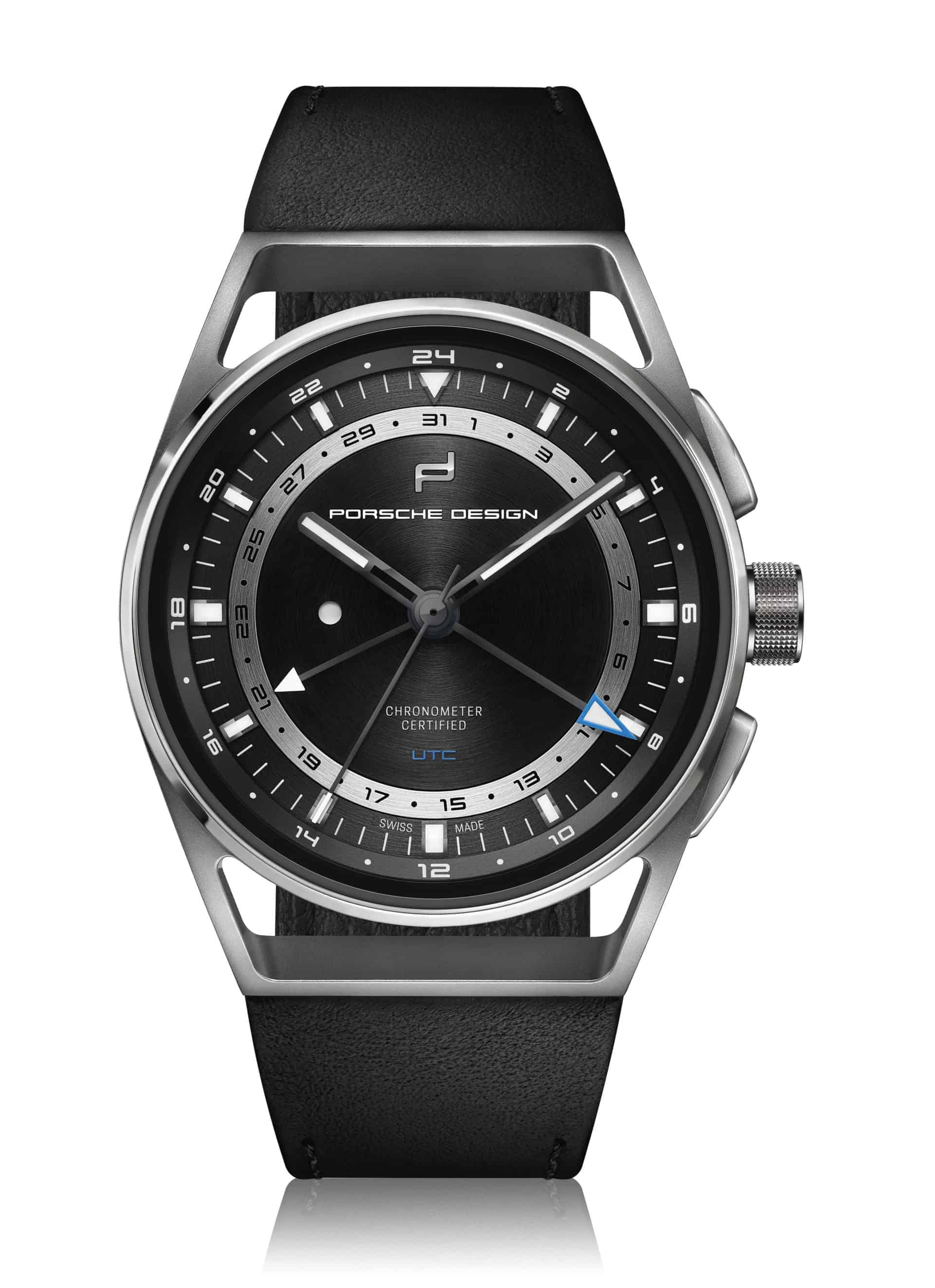 Der Porsche Design 1919 Globetimer UTC in Titan bietet einen Chronographen mit Zeitzonen Schnellschaltung. Er kostet 5.950 Euro.