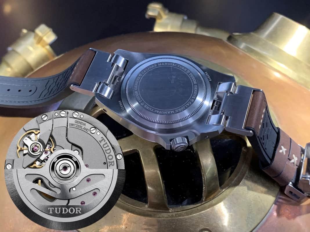 Das Stahlgehäuse der Tudor Black Bay P 01 mit dem Manufakturkaliber MT 5612