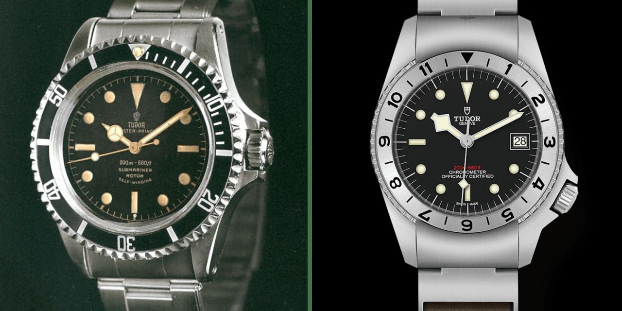 Tudor Black Bay P01 und die  Tudor Oyster Prince Submariner Modelle