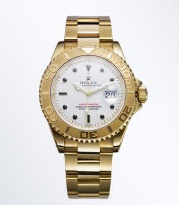 In Gold natürlich - die erste Rolex von 1992