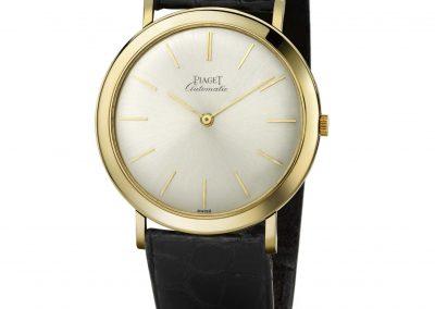 Die flache, elegante und diskrete Piaget 12P Vintage Armbanduhr