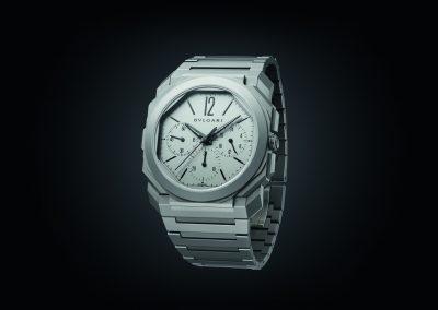Die Octo Finissimo GMT Automatik von Bulgari ist ein Designklassiker und die flachste Chronographen-Armbanduhr der Welt