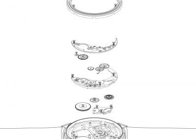 Der Werkbau der Piaget Altiplano Armbanduhr 910P