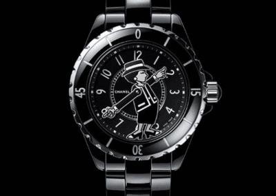 Das Sondermodell der Chanel j12 Mademoiselle Negro