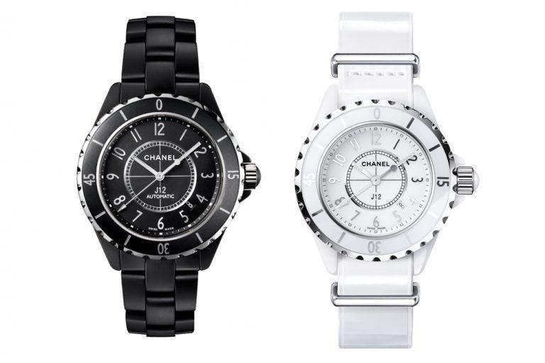 Schwarz und später weiß - die Chanel J12 Ursprungsmodelle von Helleu