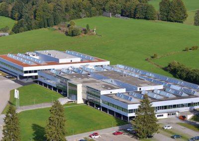 Die Die beachtlich große Chatelain Werkfabrik in La Chaux-de-Fonds