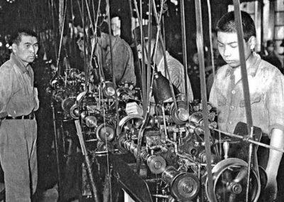 Die Nachkriegsproduktionsstätte von Seiko in Seikosha im Jahr 1949