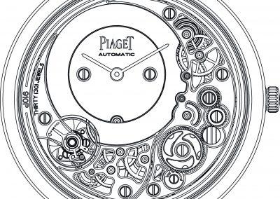 Der gestalterische Entwurf der Piaget 910P