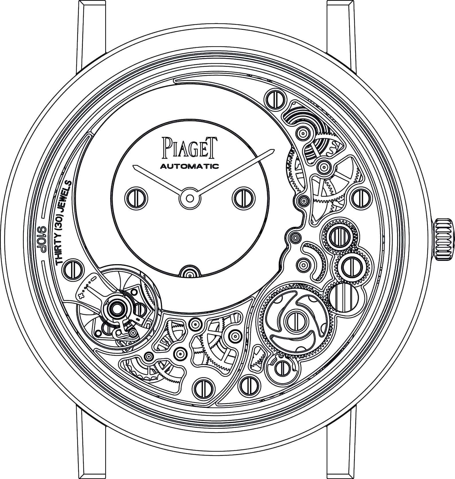 Piaget Face 910P