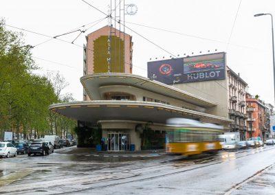 Die Garage Italia ist ein Industriedenkmal in Mailand aus den 50er Jahren