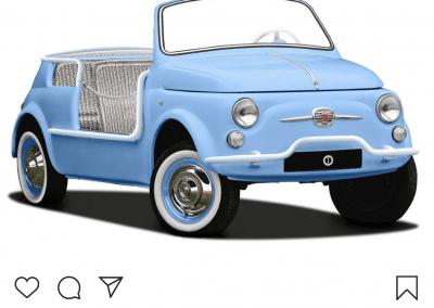 Der Cinquecento Spiaggina ICON auf Instagram