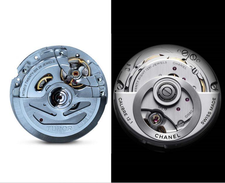 Im Vergleich - das Kaliber Tudor 5612 und das Chanel Kaliber 12.1 von Kenissi