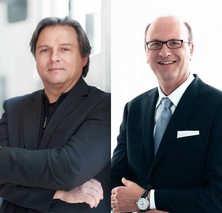 Die neue Doppelspitze - Gründer Manfred Brassler und CEO John van Steen