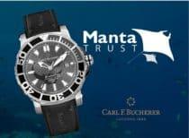 Die Carl F. Bucherer Patravi ScubaTec Black Manta unterstützt den Schutz der Mantas